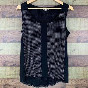 Smart Set polka dot tank ultra light, sheer detail